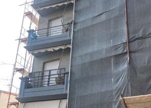 Θερμοπρόσοψη πενταόροφης πολυκατοικίας στο Χαλάνδρι